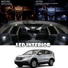 For 12-16 Honda CRV CR-V White LED Full Package Map Dome Trunk License Plate