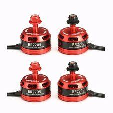 4X Racerstar Racing BR2205 2205 2300kV 2-4S Brushless Motor 2 CW & 2 CCW Set