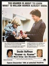 1979 Vintage Print Ad KRAMER VS KRAMER Movie Release Advert Dustin Hoffman