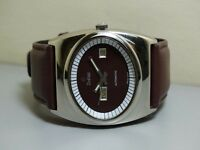 VINTAGE Zodiac Automatic Day DATE SWISS MADE WRIST WATCH e489 Old used antique