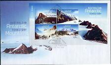 "2013 FDC AAT. Australian Antarctic Territory Mountains. MS. Pict.FDI ""KINGSTON"""