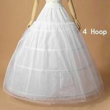 4 Hoop Crinoline Gown Petti skirt Wedding Bridal Dress Petticoat Underskirt Slip