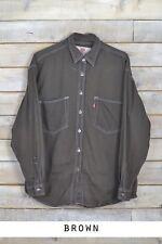 Vintage Levi Strauss para hombre manga larga vaqueros camisas XS, S, M,L, XL,
