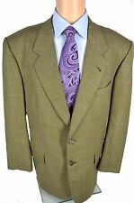 Bespoke Ermenegildo Zegna Trofeo Cloth Sport Coat Jacket Brown 2 Button Size 46