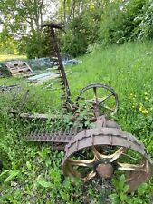 More details for vintage bamford tractor mower with two knives