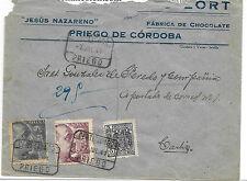 España. Priego de Cordoba a Cádiz. Sobre circulado por Certificado