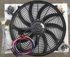 "16"" 12V 80W Universal Elektrisch Lüfter Kühlerlüfter + Thermostat-Relais-Kits"