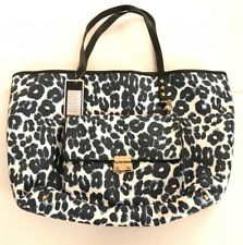 NWT Juicy Couture Coldwater Coated Collection Blue Leopard Large Pocket Tote