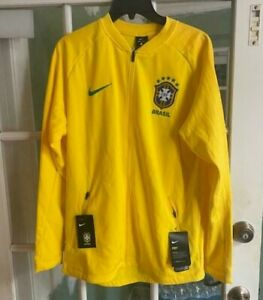 Men's Nike Brasil 18/19 Anthem World Cup Squad Training Jacket 893584-749 Size L
