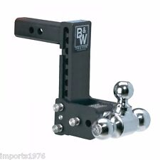 "B&W Tow & Stow Trailer Hitch Tri Ball Mount 7"" Drop, 7-1/2"" Rise TS10049B"