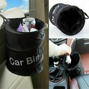 Portable Collapsible Car Bin Trash Can Pop-up Leak Proof Trash Bin Basket Black