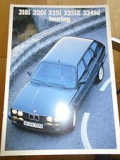 BMW 318i, 320i, 325i, 325ix, 324TD Touring opuscolo 1989 1 TESTO TEDESCO