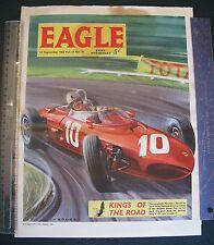 1962 Eagle Comic Ferrari Jim Clarke GRAHAM HILL ORIGINAL AUTOCOURSE f1 GP Art