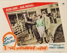 SALTY O'ROUKE - LOBBY CARD (1945) - ALAN LADD- HORSE RACING - RARE - NEAR MINT