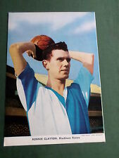 RONNIE CLAYTON- BLACKBURN ROVERS PLAYER-1 PAGE MAGAZINE PICTURE-CLIPPING/CUTTING