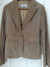 New Look Suede Leather Jacket Size 12