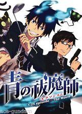 DVD BLUE EXORCIST Season 1 Episode 1-25 END + MOVIE Anime Boxset ENGLISH Dubbed