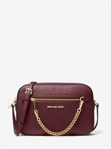 MICHAEL KORS Jet Set Zip Chain Large Saffiano Leather Crossbody Bag