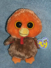 """Ty Boo GOBBLER 6""""  Mint/Mint tag  RARE Turkey with Orange head RETIRED 2011"""