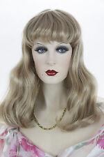 Honey Ash Blonde Blonde Long Medium Skin Top Straight Wigs