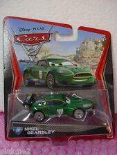 NEW 2011 Disney Pixar Cars 2 #20 NIGEL GEARSLEY✰GREEN✰Aston Martin DBR9✰Britain