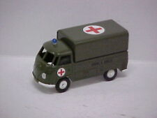 BUDGIE TOYS VOLKSWAGEN KOMBI PICK UP RE PAINTED IN  MILITARY GREEN AMBULANCE