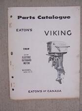 1959 Eaton Viking Outboard Motor Parts Manual Catalog 35 HP Electric 35DE12V  H