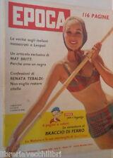 EPOCA 19 giugno 1960 Massacro di Leopoli May Britt Renata Tebaldi Eichmann Davis