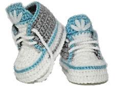 Baby Schuhe Krabbelschuhe Handarbeit gestrickt 10 Cm Junge Babyschuhe NEU