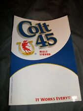 Colt 45 Malt Liquor Beer Cooler Door Static Decal Price Display Sign
