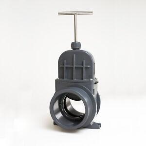 Zugschieber VDL Ø 110 mm mit EPDM Dichtung Absperrschieber Koi Teich Pool Filter