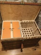 "Rare ""ladies"" Vintage Antique Louis Vuitton Steamer Trunk decent for age genuine"