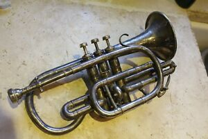vintage besson and co cornet