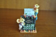 Gorgeous Little Mouse Theme Typewriter Miniature Figurine - 7cm Tall *Chipped*