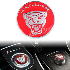 42mm Red Gear Shift Knob Stick Emblem Badge Cap Cover for F-Pace XJ XE XF