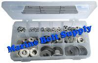 Type 316 Stainless Steel Flat Washer Assortment Kit Marine Grade Stainless
