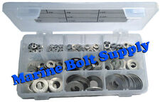 Type 316 Stainless Steel Flat Washer Assortment Kit Marine Grade Stainless