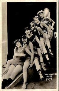 MACK SENNETT GIRLS BATHING BEAUTIES FLAPPERS OLD REAL PHOTO POSTCARD NO. 25