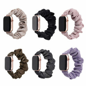For iWatch Apple Watch Series 6/SE/5/4/3 38/42 40/44MM Scrunchie Loop Strap Band