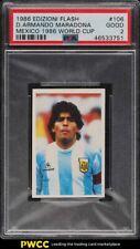 1986 Edizioni Flash Mexico '86 World Cup D. Armando Maradona #106 PSA 2 GD