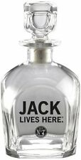 Jack Daniel's Licensed Barware Jack Lives Here Square Decanter, Made in Italy