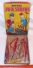 ROYAL JACK STRAWS PICK UP GAME 1930s BOXED MILTON BRADLEY