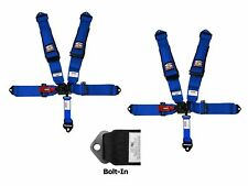 Simpson 3x3 Latch & Link Harness Seat Belts Bolt In Blue W/Black Hardware