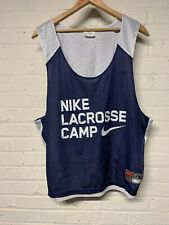 Nike Vest Lacrosse Camp L/Xl Navy and White Sleeveless
