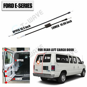 Rear Left Cargo Door Upper&Lower Latch Release Cable for Ford E150 250 350 450