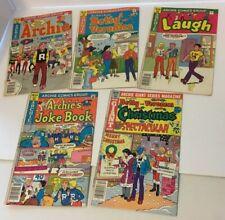 Archie Comics Lot Of 5 Laugh Betty And Veronica Joke Book Christmas Spectacluar