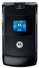 Original MOTOROLA RAZR V3 Black 100% UNLOCKED Cellular Phone GSM Warranty V FREE