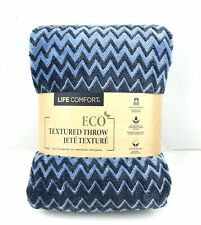 Life Comfort Urban Ultimate Eco Textured Throw/Blanket 60 x 70 in. Blue