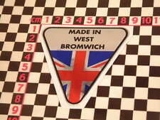 Made in West Bromwich Chrome Sticker- Jensen Interceptor Volvo P1800 CV8 541