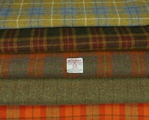 Harris Tweed Fabric  100% wool Craft Material  50cm x 50cm  - various Colours